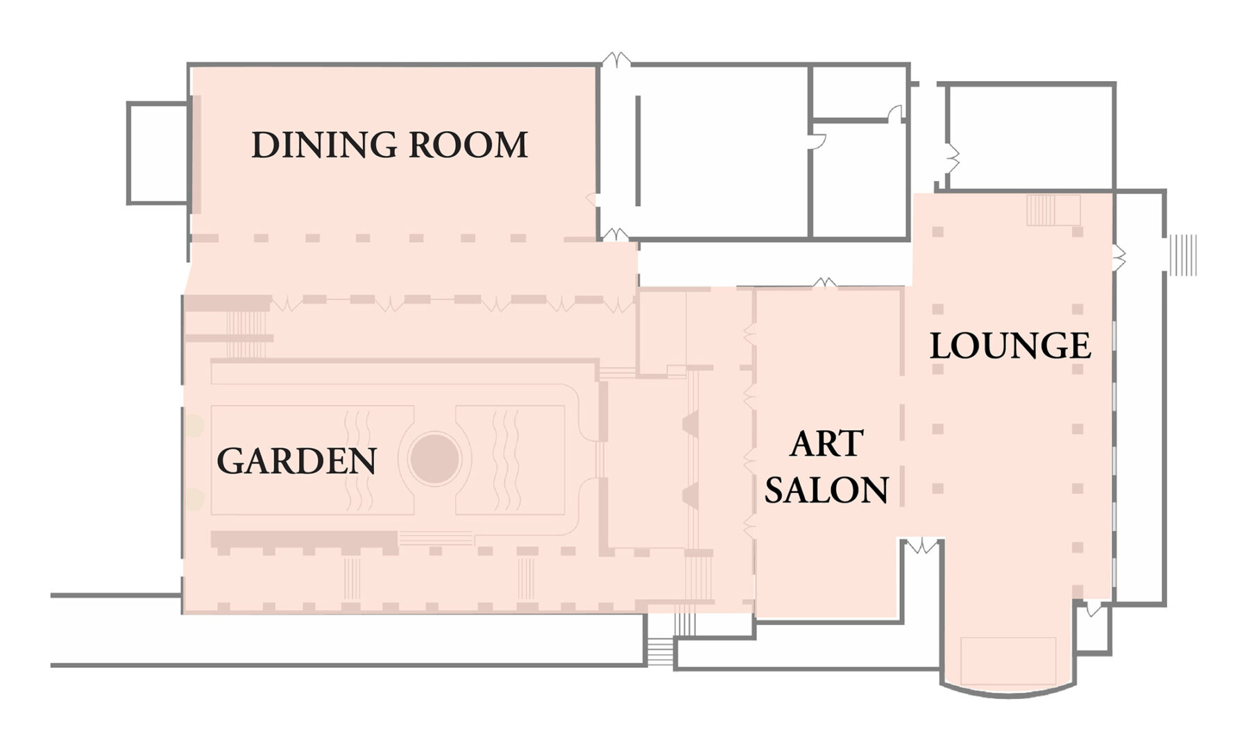 Ebell Club Floor Plan. First Floor Exclusive