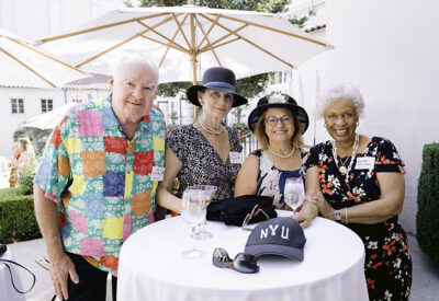 Photo of Amy Sinclair with husband Ed (far left), Janis Barquist and Wilma Pinder