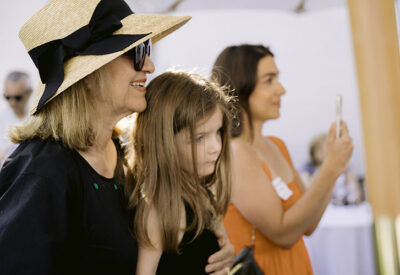 Philip's wife, Marguerite, with Philip's daughter Dominque and granddaughter Colette
